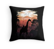 From Jungle to City Throw Pillow