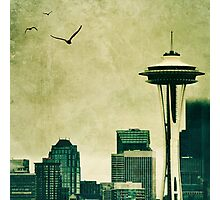 """Textured Seattle"" Photographic Print"