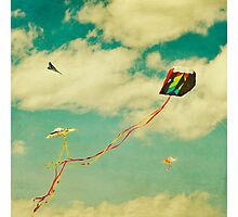 """Let's Go Fly a Kite"" Photographic Print"