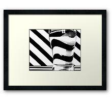 Zebra juice No3 Framed Print