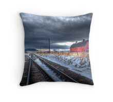 """Big Red Barn"" HDR Throw Pillow"