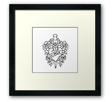 My Chemical Romance Heart and Dagger - Black Framed Print