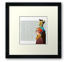 the undead probably have no body heat Framed Print