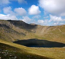 Helvellyn and Red Tarn by Steve  Liptrot