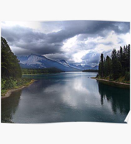 Beautiful Lake Maligne Poster