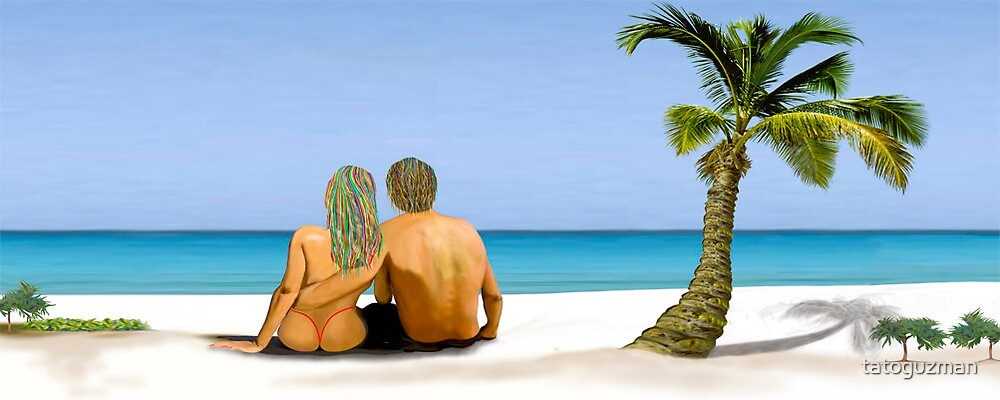 Romantic Couple Looking at Horizon by tatoguzman
