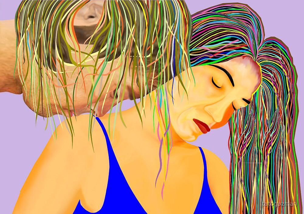 Romantic Sunbright Couple by tatoguzman