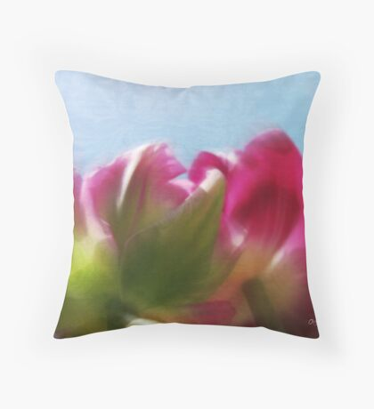 Tulip view Throw Pillow