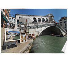Trickery on the Rialto bridge Poster