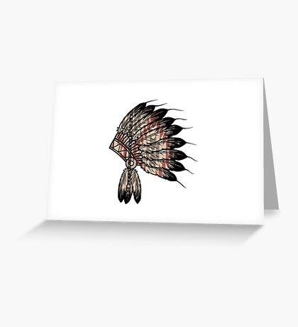 Native American Headdress Greeting Card