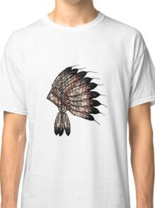 Native American Headdress Classic T-Shirt