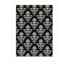 Damask Pattern | Black & White Art Print