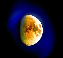 Moon Shine: blue moon aura by Steve