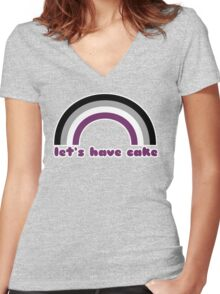 Let's Have Cake Women's Fitted V-Neck T-Shirt