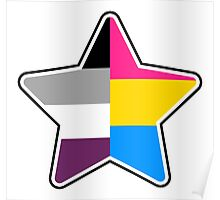 Panromantic Asexual Star Poster
