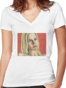 Darla - Angel S2E15 Women's Fitted V-Neck T-Shirt