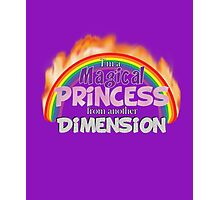 Magical Princess from another Dimension Photographic Print
