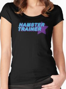 Hamster Trainer Blue/Purple Women's Fitted Scoop T-Shirt