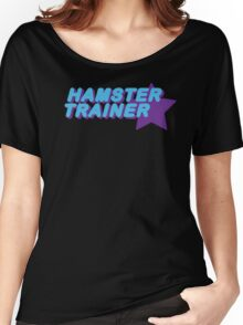 Hamster Trainer Blue/Purple Women's Relaxed Fit T-Shirt