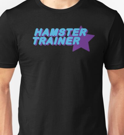 Hamster Trainer Blue/Purple Unisex T-Shirt