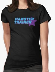 Hamster Trainer Blue/Purple Womens Fitted T-Shirt