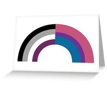 Bi-asexual Greeting Card