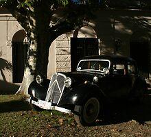 Old car Colonia del Sacramento - Uruguay by David Pillinger