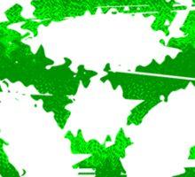 Biohazard Raver Green Sticker
