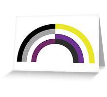 Non-Binary Asexual Rainbow Greeting Card