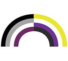 Non-Binary Asexual Rainbow Photographic Print