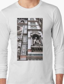 The Facade of St. Mary's Cathedral, Florence Long Sleeve T-Shirt