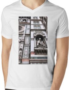 The Facade of St. Mary's Cathedral, Florence Mens V-Neck T-Shirt