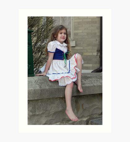 Vintage Dressed Chloe Art Print