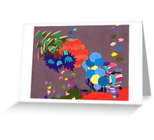 Rainbow City with Gray Sky Greeting Card
