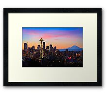 Seattle Dawn Framed Print
