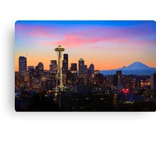 Seattle Dawn Canvas Print