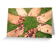 Charitable wine stomping Greeting Card