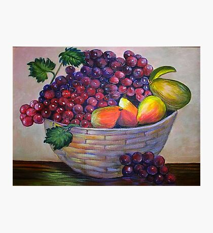 Basket of fruit.  Still life by my mom....YONEKO Photographic Print