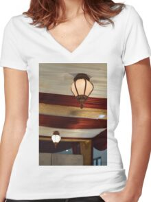 the lamp Women's Fitted V-Neck T-Shirt
