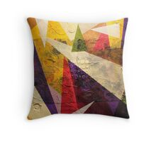 Layered Triangles Throw Pillow