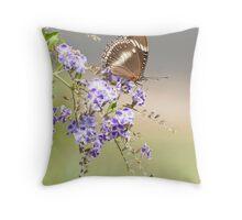 Geisha girl - butterfly feeding. Throw Pillow