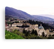 From the top of Assisi Canvas Print