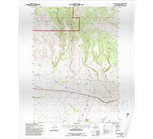 USGS Topo Map Oregon Sage Hen Hill 281357 1992 24000 Poster