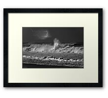 Storm On The North Shore Framed Print