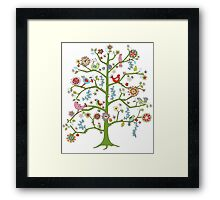 singing birds Framed Print