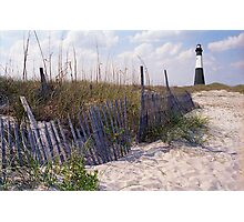Tybee Island Lighthouse and Beach Photographic Print