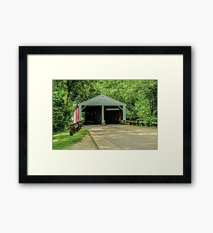 Ramp Creek Covered Bridge Framed Print