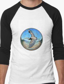 Great Blue Heron Men's Baseball ¾ T-Shirt
