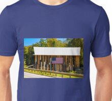 Riverside Farm Covered Bridge Unisex T-Shirt