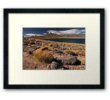 Lagoon and Volcanoes Atacama Desert - Chile Framed Print